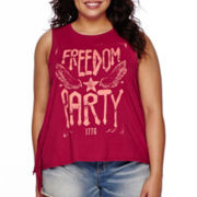 Arizona Americana Fringe Tank Top - Juniors Plus