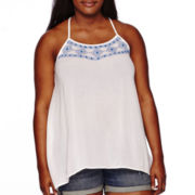 Arizona Americana Embroidered Tank Top- Plus