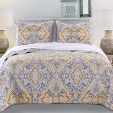 jcpenney.com | Greenland Home Fashions Vahalla Gold Quilt Set