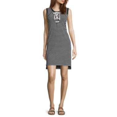 jcpenney.com | i jeans by Buffalo Sleeveless Lace-Up Dress