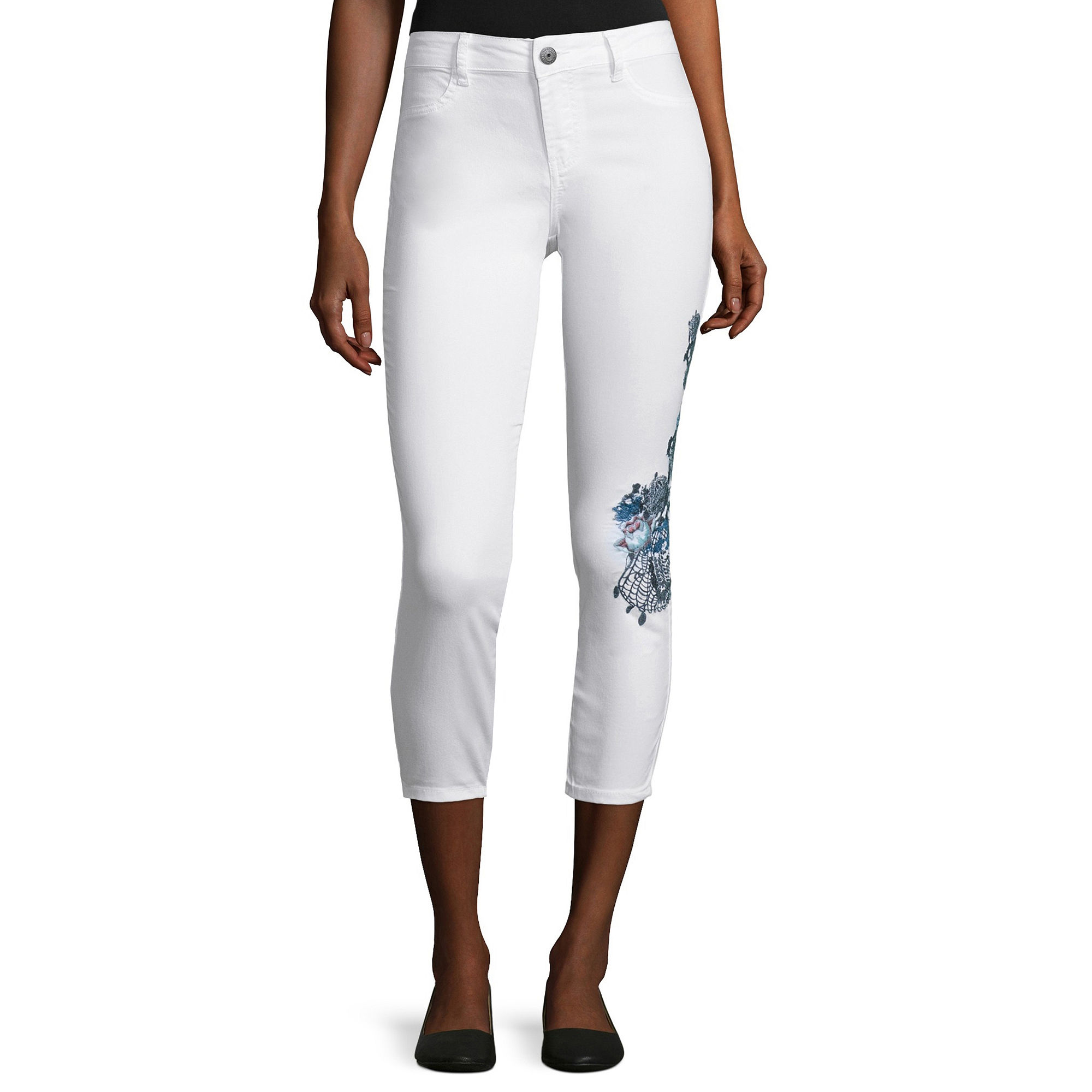 i jeans by Buffalo Embroidered Cropped Jeans