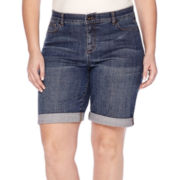 Liz Claiborne® Denim Bermuda Shorts - Plus