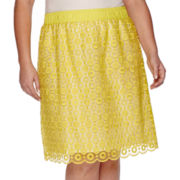 Liz Claiborne® Pull-On Lace Skirt - Plus