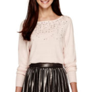 Worthington® Dolman-Sleeve Embellished Sweater - Tall