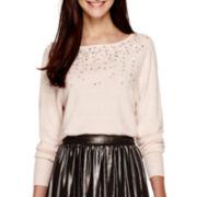 Worthington® Dolman-Sleeve Embellished Sweater - Tall