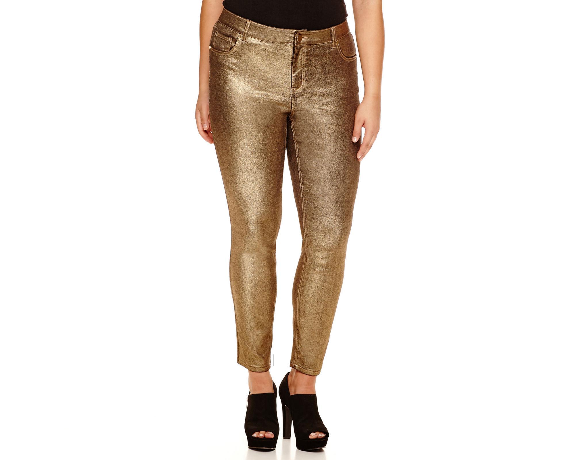 Bisou Bisou 5-Pocket Foiled Jeans - Plus