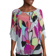 Worthington® 3/4-Tulip-Sleeve Blouse with Cami - Tall