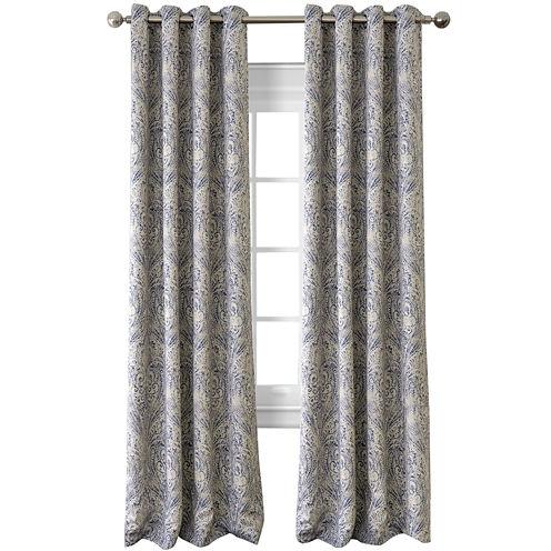Julianne Blackout Grommet-Top Curtain Panel