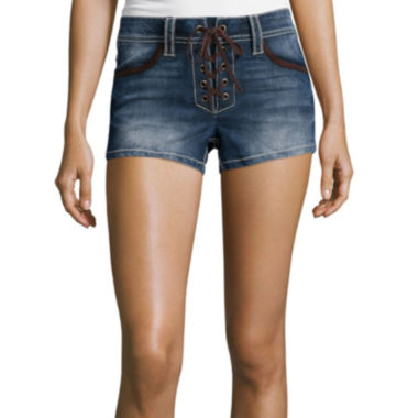 jcpenney.com | Almost Famous Lace-Up Shorts - Juniors