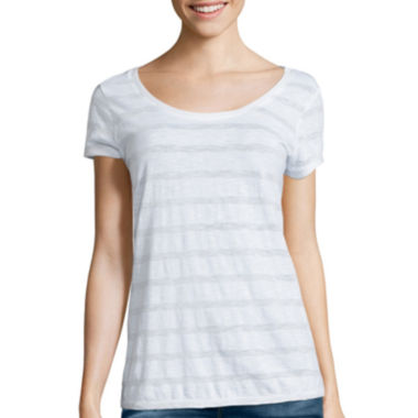 jcpenney.com | i jeans by Buffalo Short-Sleeve Lurex Metallic Tee