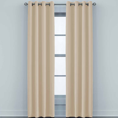 jcpenney.com | JCPenney Home Made-To-Length Matte Satin Grommet-Top Poly-Cotton Lined Curtain Panel