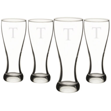 jcpenney.com | Cathy's Concepts Set of 4 Engravable Pilsner Glasses