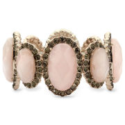 Monet® Rose Stone & Gray Crystal Stretch Bangle