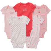 Carter's® 5-pk. Poppy Bodysuits - Girls newborn-24m