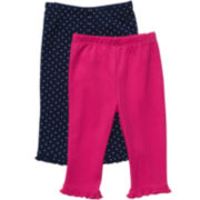 Carter's® 2-pk. Navy and Pink Pants - Girls newborn-24m