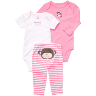 jcpenney.com | Carter's® Monkey Turn-Me-Around Set - Girls newborn-24m