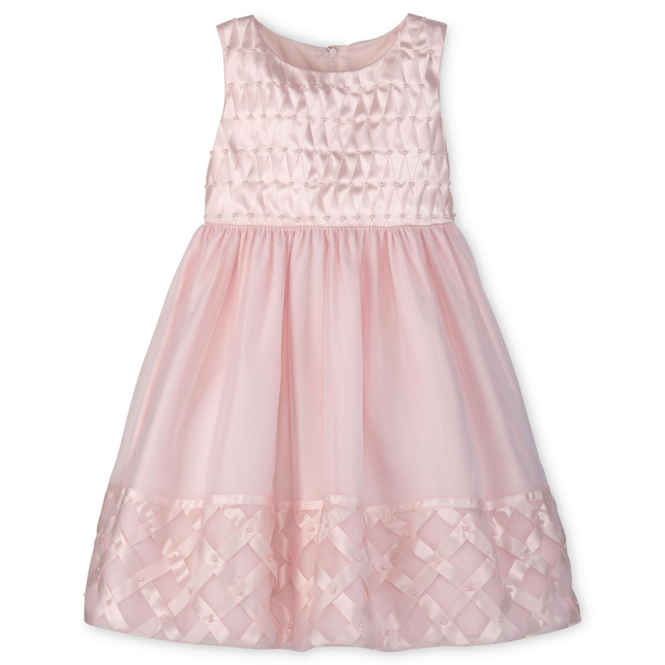 75a5b6c0 JCPenney. Princess Faith Basket Weave Border Flower Girl Dress Girls 2y 6x,  Pink, Pink,