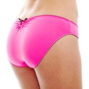 Flirtitude® Ruched Keyhole Bikini Panties