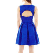 Blu Sage Sleeveless Belted Fit-and-Flare Dress