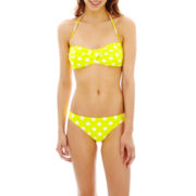 Arizona Polka Dot Bandeau Swim Top or Hipster Bottoms