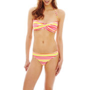 Arizona Striped Bandeau Swim Top or Hipster Bottoms