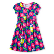 Okie Dokie® Short-Sleeve Jersey Print Dress - Girls 12m-6y