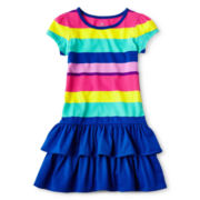 Okie Dokie® Ruffled Hem Dress - Girls 12m-6y