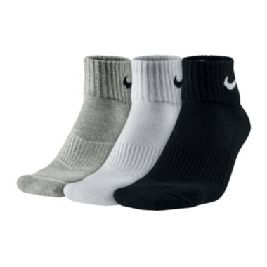 jcpenney.com | Nike® 3-pk. Performance Cotton Quarter Socks