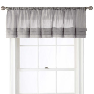 jcpenney.com | Royal Velvet® Crushed Voile Rod-Pocket Tailored Pleated Valance
