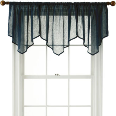 jcpenney.com | Royal Velvet® Crushed Voile Rod-Pocket Ascot Valance