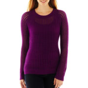 a.n.a® Pointelle Openwork Sweater
