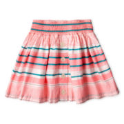 Arizona Striped Button-Front Skirt - Girls 6-16 and Plus