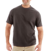 Claiborne Drop-Needle Tee-Big & Tall
