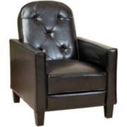 Johnstown Bonded Leather Tufted Recliner