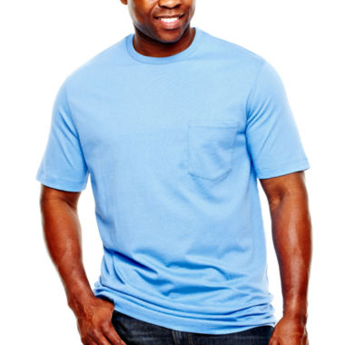 jcpenney.com | The Foundry Big & Tall Supply Co.™ Solid Pocket Tee
