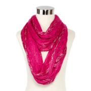Metallic Slub Loop Scarf