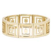 Liz Claiborne® Gold-Tone Logo Stretch Bracelet