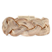 Monet® Rose-Tone Braided Flex Bracelet