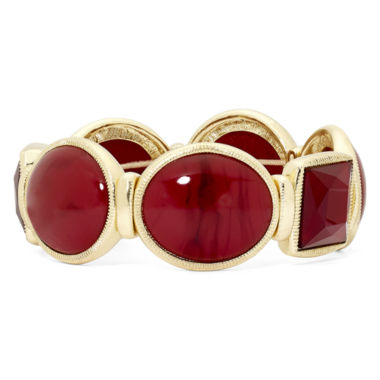 jcpenney.com | Monet® Red Stone Stretch Bracelet