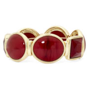 Monet® Red Stone Stretch Bracelet