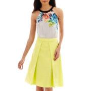 Worthington® Tie-Neck Halter Blouse or Pleated Full Skirt - Tall