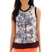 Worthington® Fabric-Mix Tank Top - Tall