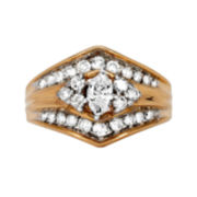 CLOSEOUT! 1 CT. T.W. Diamond 14K Two-Tone Gold Engagement Ring