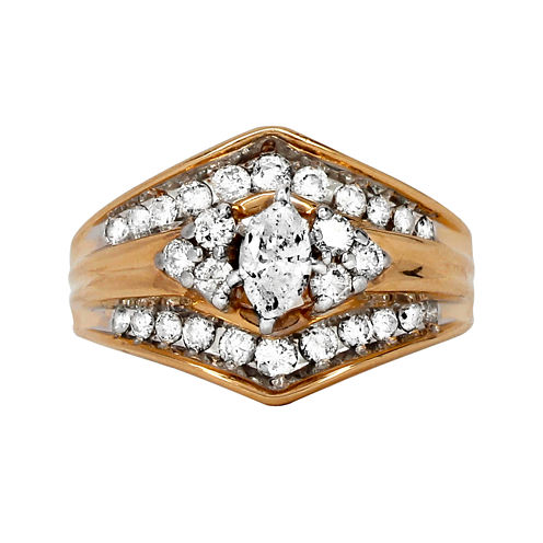 LIMITED QUANTITIES 1 CT. T.W. Diamond 14K Two-Tone Gold Engagement Ring