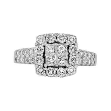 jcpenney.com | LIMITED QUANTITIES 1¼ CT. T.W. Diamond 14K White Gold Engagement Ring
