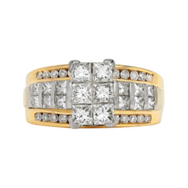 jcpenney.com | LIMITED QUANTITIES 2 CT. T.W. Diamond 14K Two-Tone Gold Engagement Ring