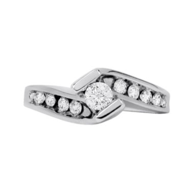 jcpenney.com | LIMITED QUANTITIES 1/2 CT. T.W. Diamond 14K White Gold Bypass Engagement Ring