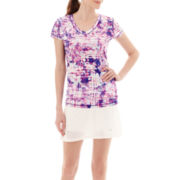 Xersion™ Print Mesh Ruched T-Shirt or Skort - Tall