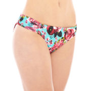 Arizona Floral Print Side-Tab Hipster Swim bottoms - Juniors