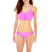 Arizona Flounce Bralette Swim Top or Hipster Bottoms - Juniors